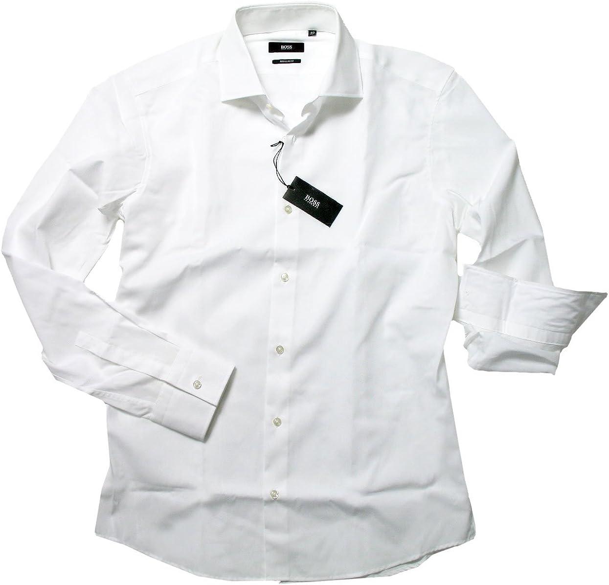 Hugo Boss - Camisa formal - Normal - para hombre blanco Small: Amazon.es: Ropa y accesorios