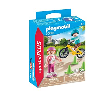 Playmobil Children with skates and bike 70061: Toys & Games