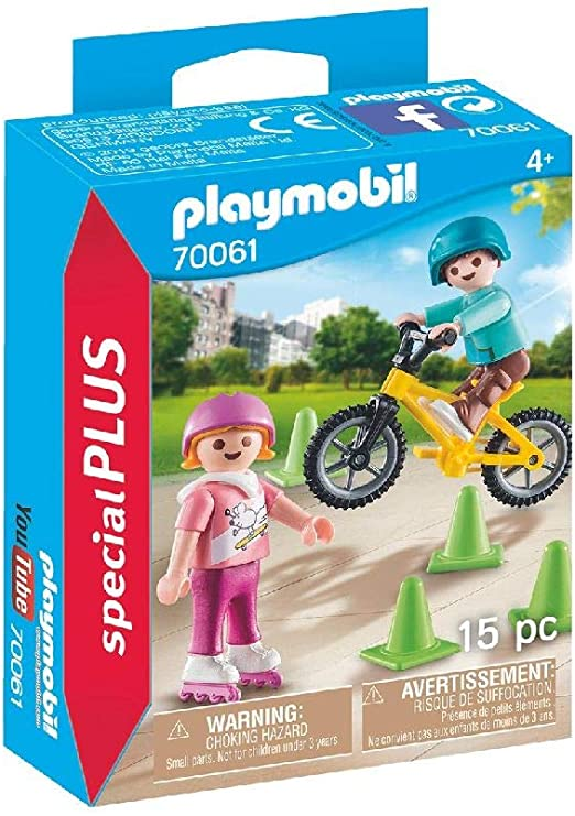 PLAYMOBIL- Special Plus Especial Niños Bici y Patines, Color ...
