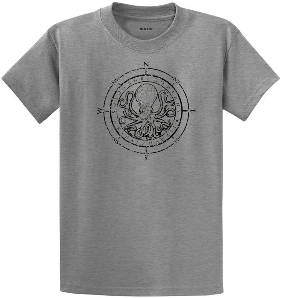 Koloa Surf Octopus Logo Heavyweight Cotton T-Shirt-AthHeath/b-L