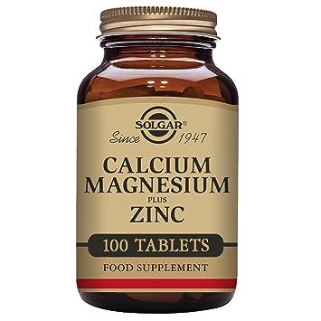 Solgar Calcium Magnesium Plus Zinc 100 Tablets