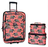 Ever Moda Elephant 3-Piece Carry On Luggage Set with Wheels for Travels