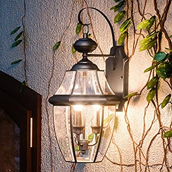Luxury colonial outdoor wall light large size 20h x 105w with luxury colonial outdoor wall light large size 225h x 1225w aloadofball Choice Image