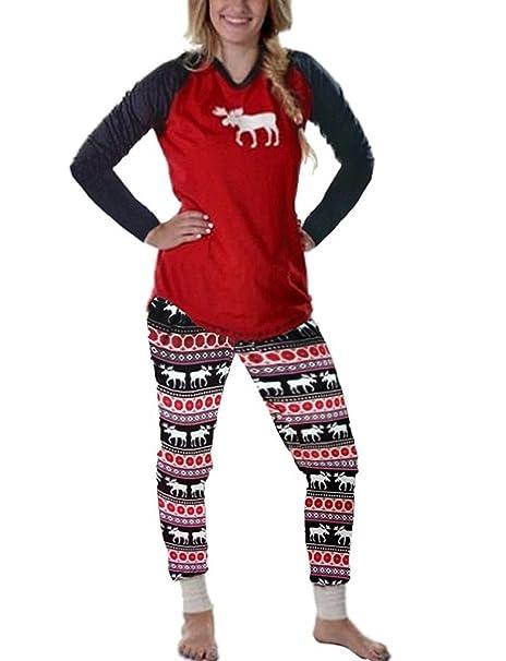 Battercake Pijamas Conjunto De Pijama Familia De Navidad Ropa De Dormir Navideños para Casuales Mujeres Mamá