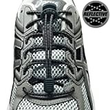 LOCK LACES Reflective (Elastic No Tie Shoelaces) (Storm Gray)