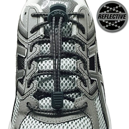 LOCK LACES Reflective Elastic Shoelaces product image