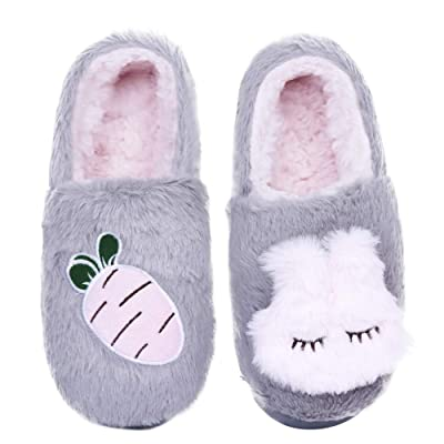 KISSTAKER Women's Cute Animal Slippers Warm Memory Foam Cotton Home Slippers Cozy House Slippers Indoor Outdoor | Slippers
