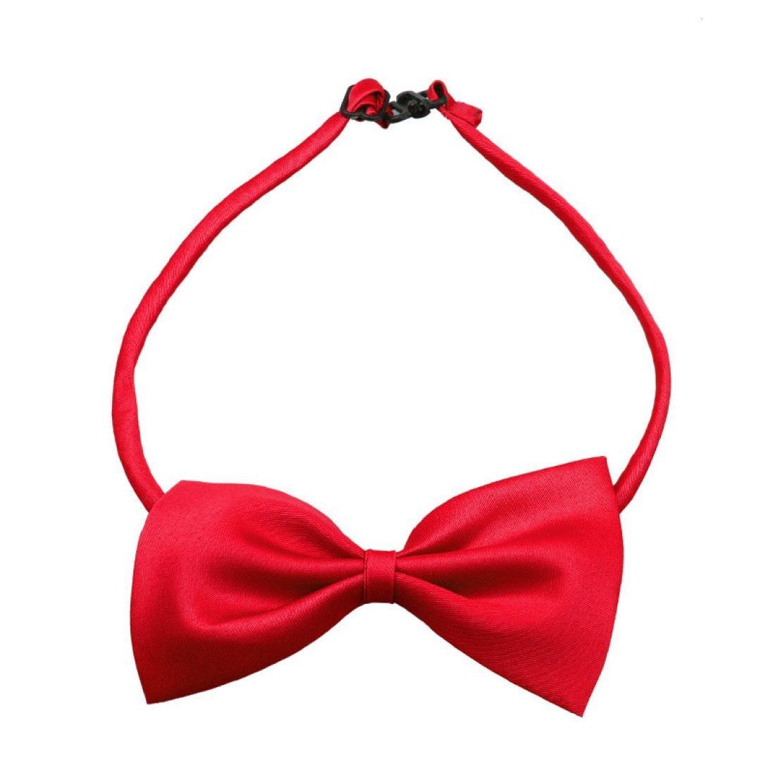 Lindo perro cachorro gato gatito juguete del animal dom/éstico pajarita corbata ropa rojo Malloom perro pajarita