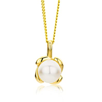Miore - Collier Femme - Or Jaune 9 Cts 375 1000 1.63 Gr - Perle d ... 17532c6a6c14