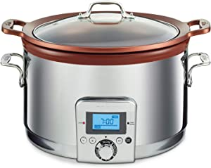 All-Clad Gourmet Slow Cooker, 5 quarts, Silver,SD492D50