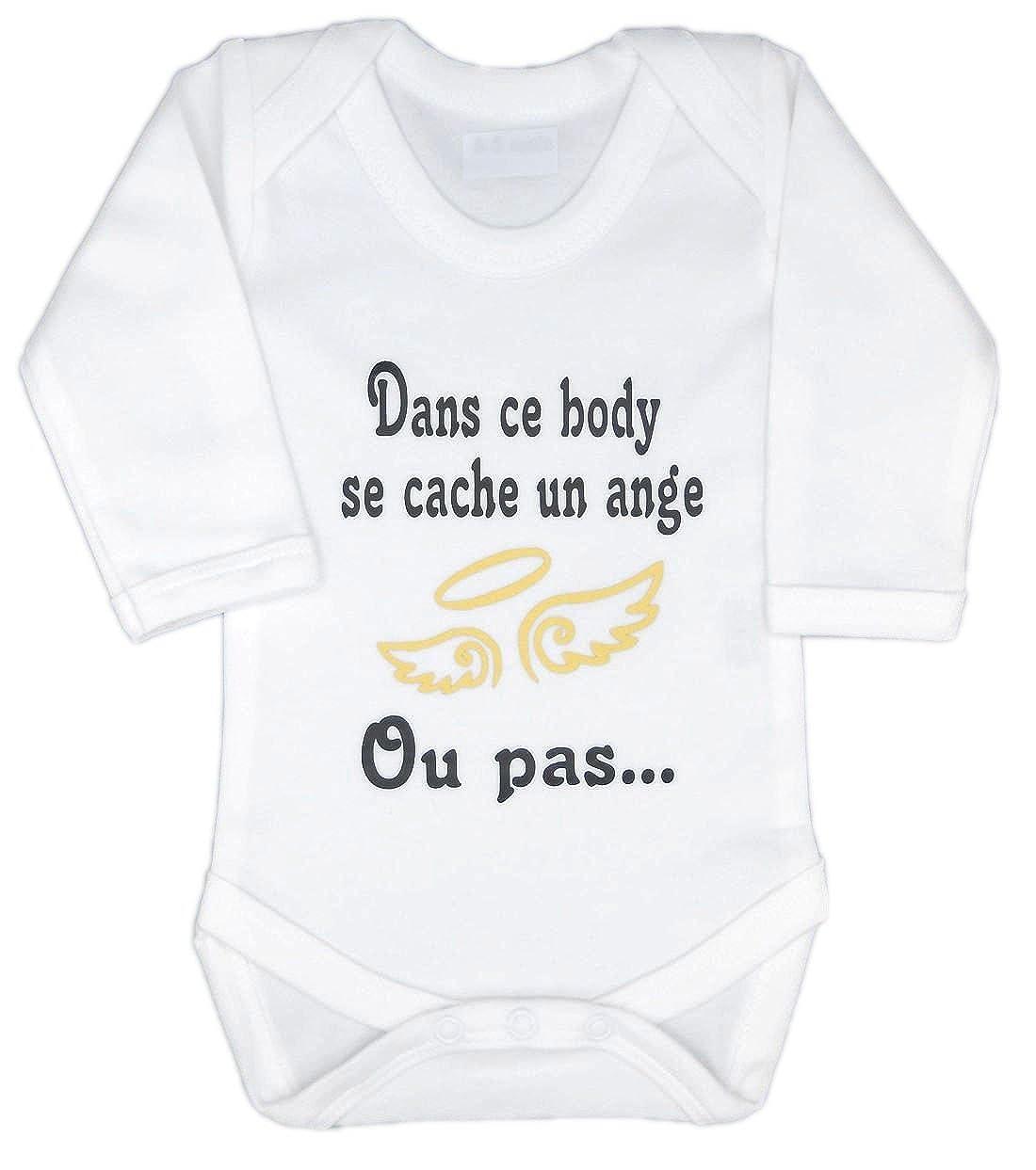 Les lutins de Camille-Body bébé fille ou garçon dans ce body se cache un ange...