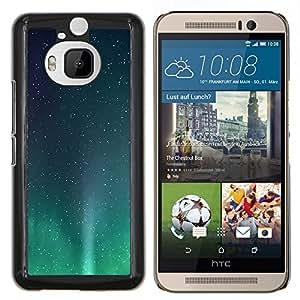 - NORTHERN LIGHTS STARS STARS BOREALIS AURORA - Caja del tel¨¦fono delgado Guardia Armor- For HTC One M9+ / M9 PLUS Devil Case