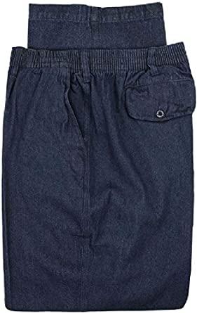 Big /& Tall Men/'s Falcon Bay Casual Denim Pants FULL ELASTIC Waist Size 52 x 32