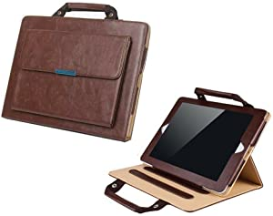 Albc Handbag Case for iPad 6th Generation 2018 / iPad 5th Generation 2017 / iPad Pro 9.7 / iPad Air2 - Smart Slim Leather Stand Cover with Auto Wake/Sleep Feature for iPad 9.7 Inch,Brown