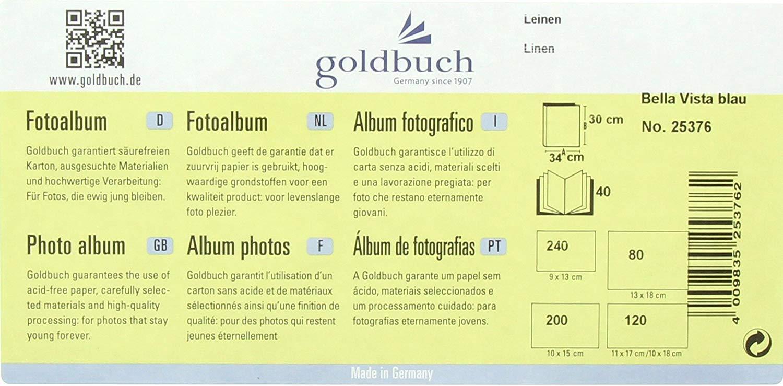 Goldbuch 25/376/Bella Vista/ //Álbum de Fotos en Espiral 34/x 30/cm cart/ón Azul
