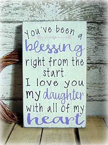 Rustic Wooden Sign Gift For Daughter - Frame Photo Art Heart Charm