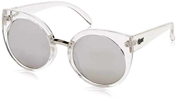 7c954b86c45 Image Unavailable. Image not available for. Color  QUAY AUSTRALIA Men s  China Doll Clear Silver Mirror Sunglasses