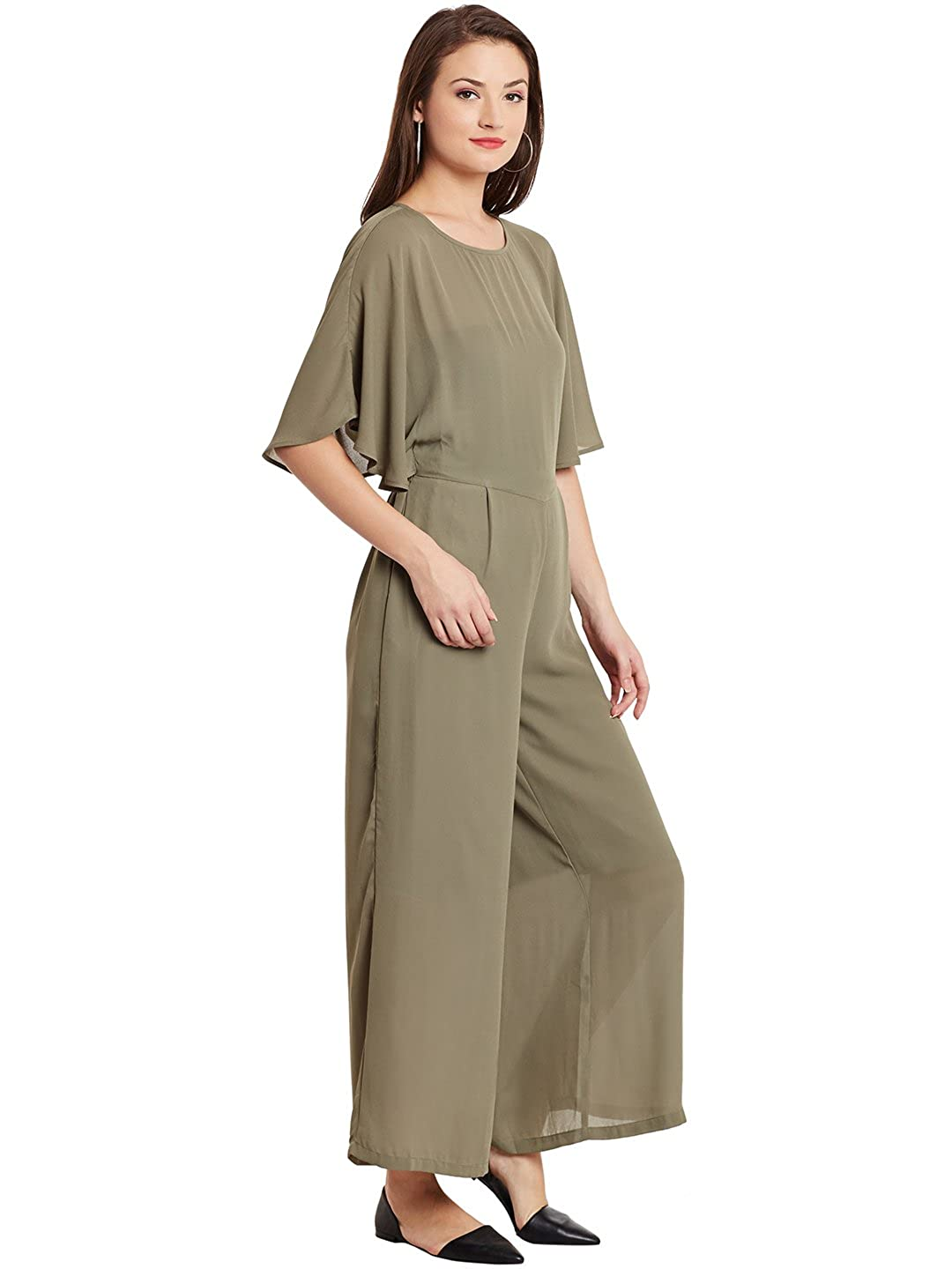 571eb5987625 Global Colours Double Layered Jumpsuit with Cross Overlap Back and Elasticated  Back Waist X-Large  Amazon.in  Clothing   Accessories