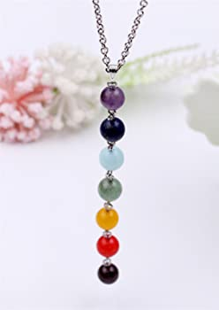 Recovery Gift Prayer Beads Inner Peace Recovery Jewelry Sterling Silver Healing Hand Pendant Necklace with 5 Chakra Beads Tranquility