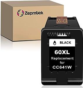 ZepmTek Remanufactured Ink Cartridge Replacement for HP 60XL 60 XL Used with PhotoSmart C4700 C4795 C4600 D110a Envy 120 100 114 DeskJet F4235 F4580 F4400 F2430 F4440 F2480 D1660 Printer (1 Black)