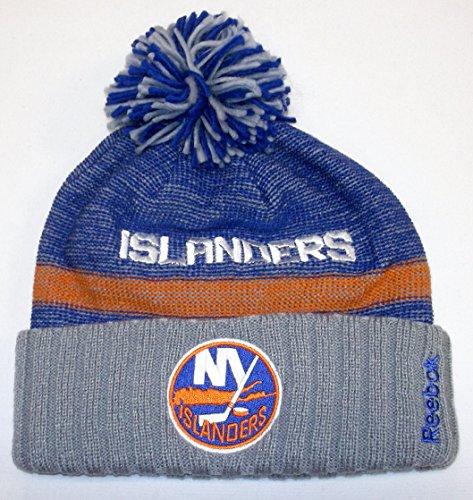 New York Islanders Reebok NHL 2014 Center Ice Cuffed Knit Hat w/ Pom