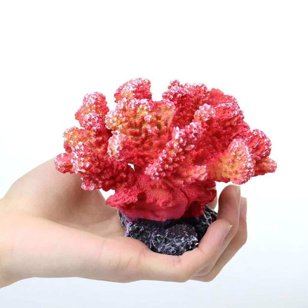 K Aquarium Landscaping Decorations Resin Simulation Coral Small Ornaments Sea Tank Aquarium Cloth Mini Decorations (color   K)