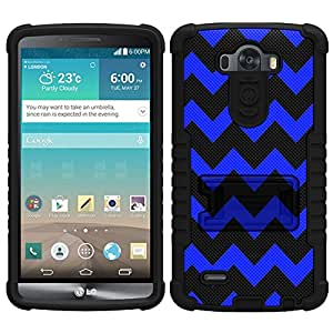 Beyond Cell Tri-Shield Chevron Blue and Black Case for LG G3