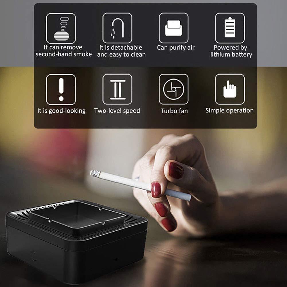 Alexsix - Depurador de Filtro de Aire de Humo secundario de Ambiente para cenicero, Recargable por USB, para Coche de Oficina o casa: Amazon.es: Hogar