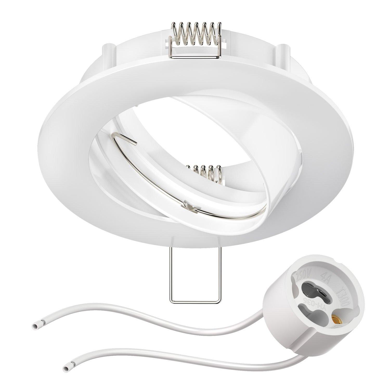 GU10 VBLED© LED Einbaurahmen aus Aluminium schwenkbar rund chrom glänzend