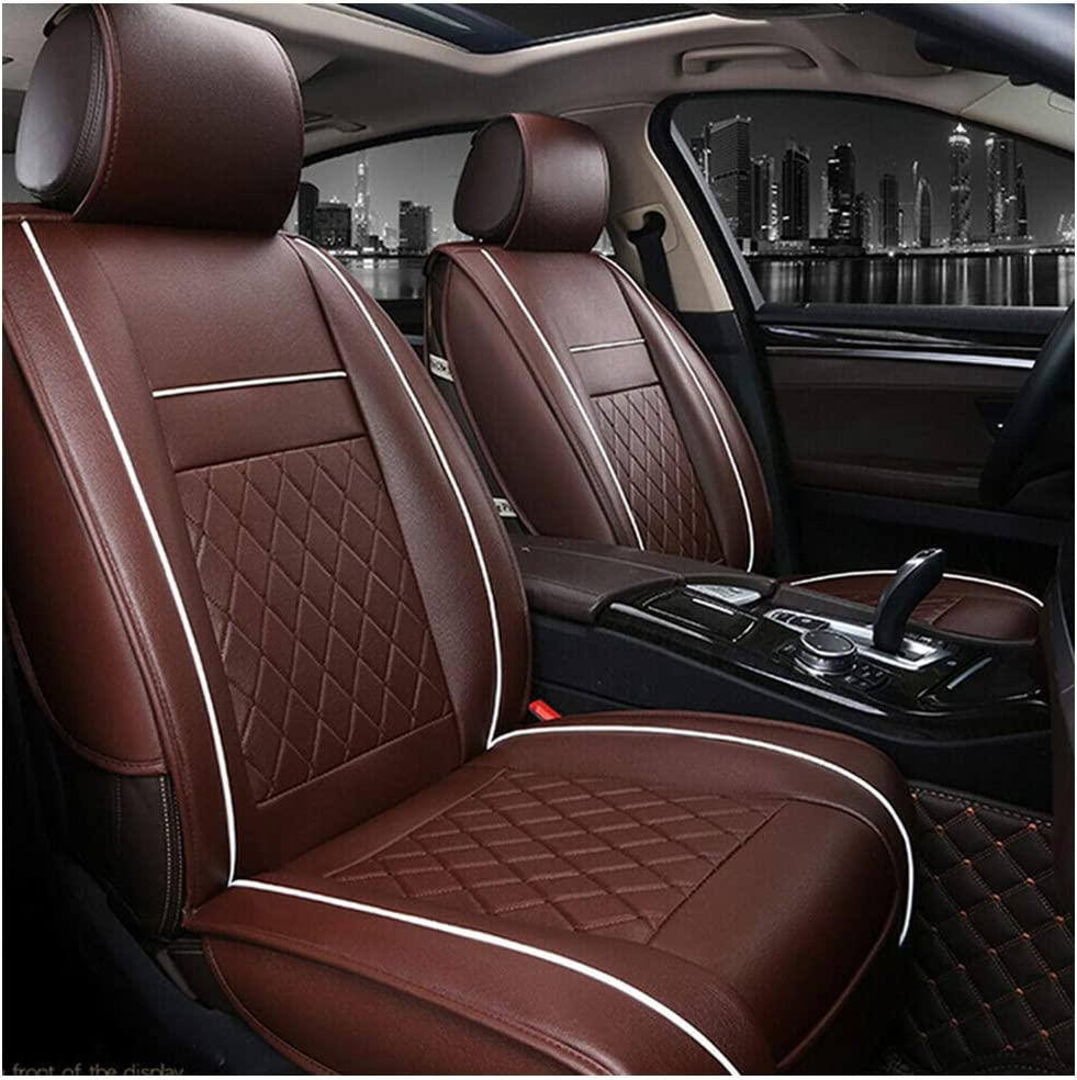 Suppyfly Multicolor Car Front Seat Covers PU Leather Universal Seat Cushion Soft Protector
