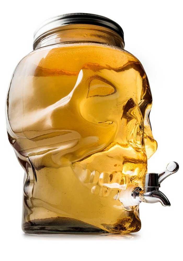 Totenkopf Getränkespender mit Zapfhahn 8L Schädel Skull Drink Dispenser