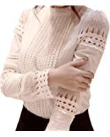 Women's New Exotic Tops Lace Blouses Shirt Dress Party Evening Wear
