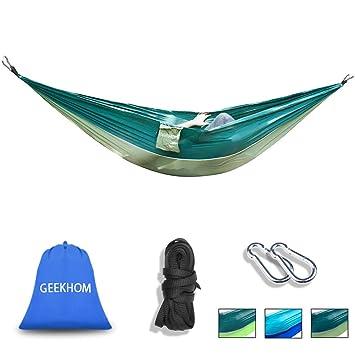 GEEKHOM Camping Hängematte für 2 Personen, Tagbare Hängematte aus ...