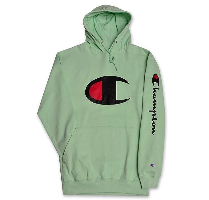 c7028712ea33a Champion Mens Big and Tall Big C Pullover Fashion Hoodie New Mint 6X