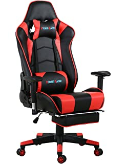 Storm Racer ergonómico Gaming Chair Silla de Respaldo Alto Silla de Oficina con reposapiés Ajuste reposacabezas