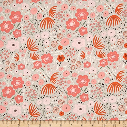 Riley Blake Ava Rose Floral Gray Fabric By The Yard