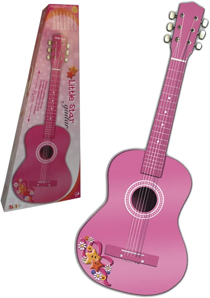 CLAUDIO REIG Guitarra de Madera, 75 cm, Color Rosa (7066): Amazon ...