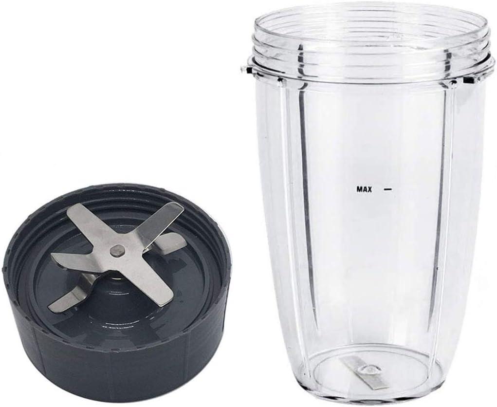 Blender Replacement Parts for Nutribullet Blender, Blender 24oz Cups & Replacemen Extractor Blade Replacement Parts Compatible with Nutribullet 600W/900W Models (24OZ)