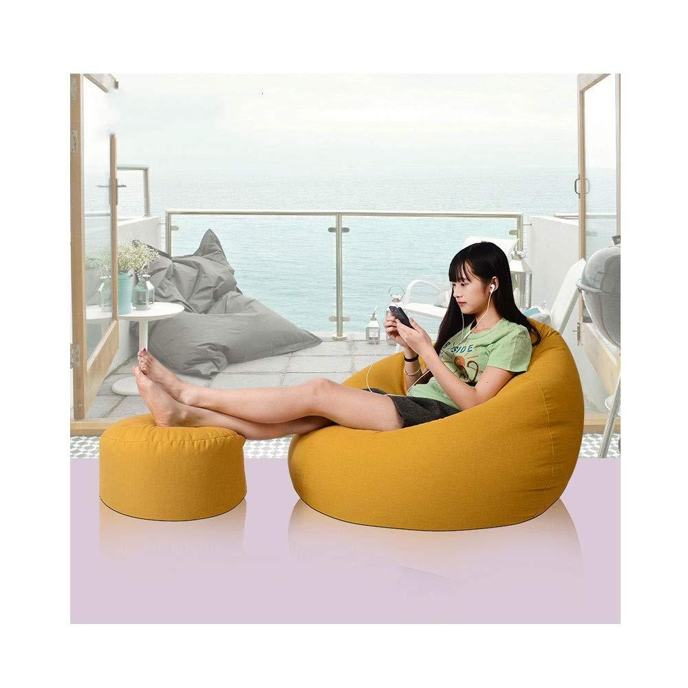 gituttio 100x120cm QWERTY Poltrona Sacco Poltrona Morbida Poltrona Sacco Pouf Poltrona Divano Chair Singolo Reclinabile Singolo Lavabile EPP Bean borsa (Coloree   rosso, Dimensione   60x75cm)