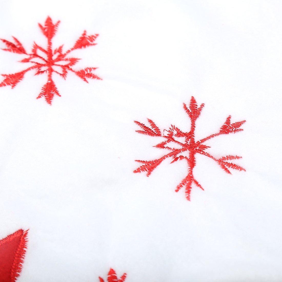 Christmas Tree Skirt 90 cm base albero di Natale di Natale Decorazioni ornamenti decorazione tappetino