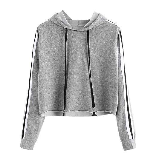 46283159e1 Dimanul Hooded Sweatshirt Women Long Sleeve Pullover Sexy Teen Girls Crop  Top New Blouse Fashion Shirt
