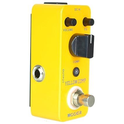 Mooer Yellow Comp – Compressor Pedal para guitarra eléctrica
