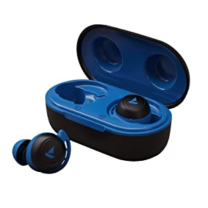 boAt Airdopes 441 Twin Wireless Ear-Buds with IWP Technology, Bluetooth V5.0, Immersive Audio, Up to 14H Playback with Case, IPX6 Water Resistance, Super Touch Controls and Secure Fit (Sporty Blue)