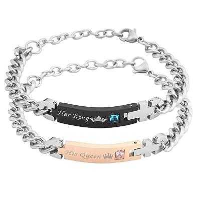 revendeur d30e9 8a6a6 Zysta - Bracelets pour couple amoureux pour Lui & Elle ...