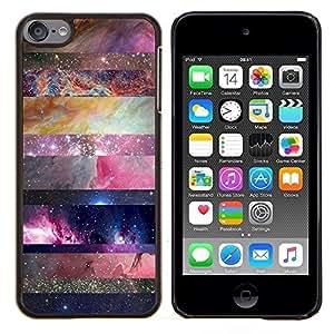 Eason Shop / Premium SLIM PC / Aliminium Casa Carcasa Funda Case Bandera Cover - Naturaleza Líneas Modelo de estrella - For Apple iPod Touch 6 6th Touch6