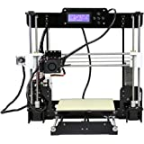3D Printer, LESHP Self-Assembly Desktop SD Card 3D Printer High Speed Precision with LCD Works with PLA ABS Filaments for DIY