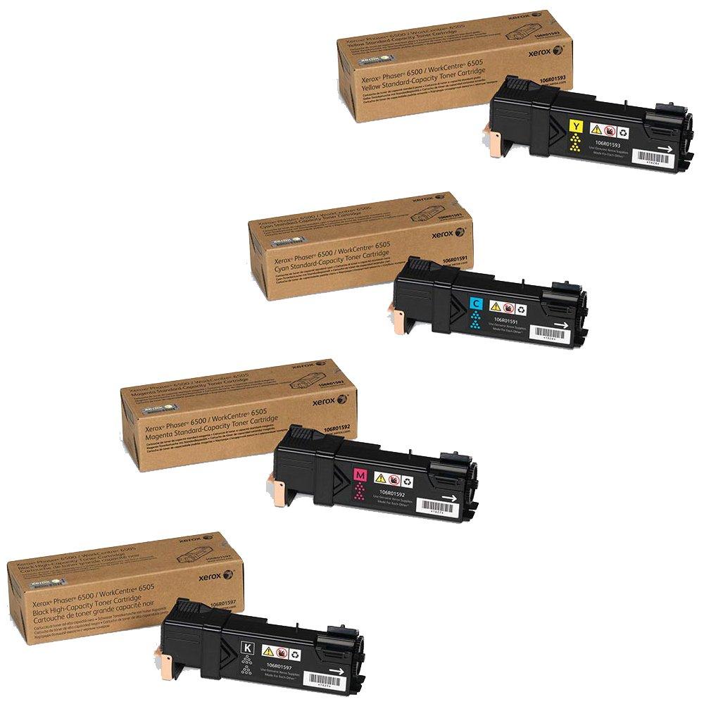 Xerox High Yield Black Standard Yield Color Toner Cartridge Set