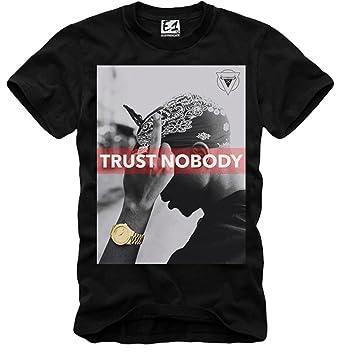 25853d171 E1Syndicate - Camiseta de Manga Corta para Hombre 2 Pac Trust Nadie Tupac  Notorious B.I.G Last Kings Negro S M L XL  Amazon.es  Ropa y accesorios