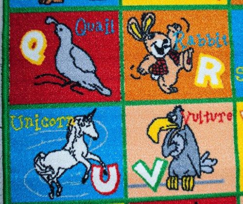Mybecca Kids Rug Alphabet Animals 3' X 5' Children ABC