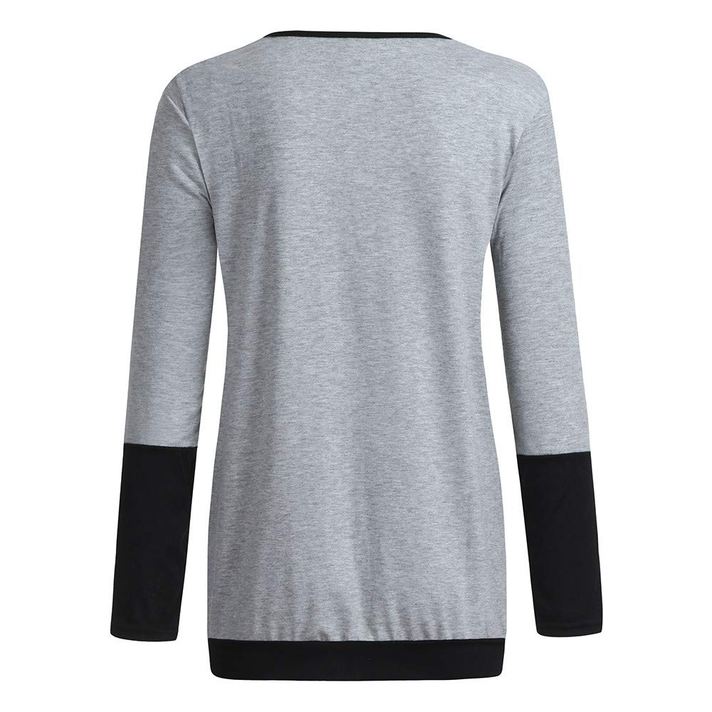 Pr/énatal Damen Umstands Stillshirt Langarmshirt zum Stillen Gestreift